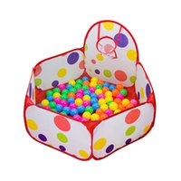 Wholesale Sample Order M Outdoor Kid Play Tent Round Foldable Ocean Ball Pool With Basket Kids Toys For Christmas S30260