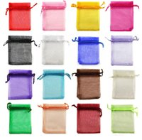 Wholesale In Stock MIC Colorful favor holders X16cm Organza Jewelry Gift Pouch Bags For Wedding gift bags