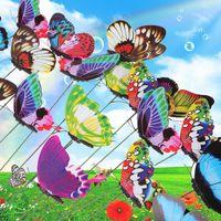 Wholesale 10Pcs Colorful Butterfly Ornament Flowerpot Decor Noctilucence Butterfly PTSP