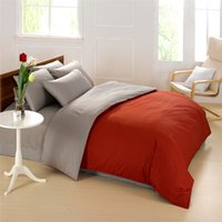 bedsheets designs - designs Elegant natural cotton solid color reversible grey blue pink purple white bedding set queen bedsheets bedspread