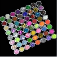 acrylic powder color - Acrylic Powder Pots Nail Art Color Kinds of Nail Art Glitter Decoration Crush Shell Bead Colorful Spangles for Nails