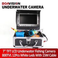 fish finder - 2015 New TVL fish finder Camera White LED quot TFT Color LCD Underwater Ice Video Fishing Camera Metal Case M Cable Aluminum Case