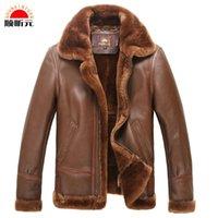 australian sheep skin - Fall Europe big yards short paragraph fur male Australian sheep skin leather men s leather jacket