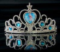 Wholesale Christmas style Frozen Crown tiara dress Elsa Anna princess crowns hearts diamond tiara baby girls party hair accessories pageant hairban