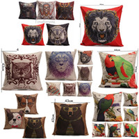Cheap Indiana Gothic Style Skull Animal Cushion Pattern Linen & Cotton Covers Bed Throw Pillow Case Home Decorative Pillowslip 44*44cm