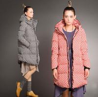 Cheap 2015 New Arrival Winter Womens New Fashion Hot Sale Long Outwear Casual Parka Duck Down Dot Jacket Hooded Winter Long Coat