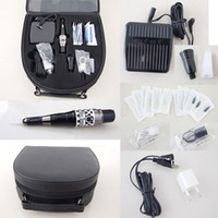 tattoo machine case - Permanent Makeup Kits Cosmetic Tattooing Supply Including Eyebrow Machine Footswitch Needles Tips Case EK2