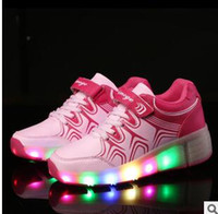 single wheel shoes - 2015 new children led light flash lighted shoes single wheel Heelys Shoes Colorful lights