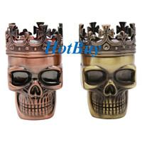 plastic magnetic - King Skull Shape Plastic Tobacco Grinder Herb Smoke Grinders Hand Muller Magnetic