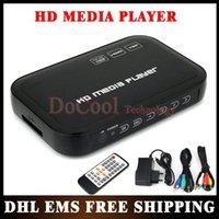 Wholesale 50PCS Full HD Media Player P with HDMI VGA SD support MKV H RMVB WMV USB External HDD