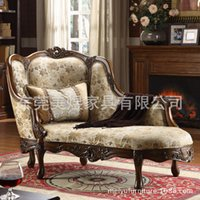 american recliners - American country chair of high end European style wooden recliner chair classical sofa cloth