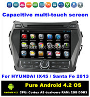 hyundai ix45 - HD quot Pure Android Dual zone Car DVD GPS for HYUNDAI IX45 Santa Fe With Bluetooth IPOD G WIFI Radio RDS AUX IN