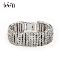 Wholesale Teemi Wedding Accessories Full CZ Diamond Austrial Crystal Bracelets For Women Top Quality Fashion Environmental Jewelry Bangles