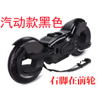 Wholesale Forthgoer Balance the two rounds of Gasoline move car instead of walking vehicle battery electric scooter right foot before black