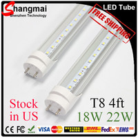 T8 led super bright - CE ROHS FCC UL ft T8 Led Tube Light W W W Warm Cool White mm feets Super Bright Led Fluorescent Bulbs AC110 V