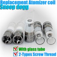 Cheap Top Snoop dogg atomizers Rebuildable coil Heating Chamber with glass tube Dry Herb Wax herbal vaporizers pen e cigatette vapor Replacement