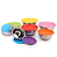 best salads - 2016 Best Selling Product Stainless Steel Salad Bowl sets Stainless steel mixing Bowl sets Serving Bowl Rubber Silicone base