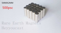 Wholesale 500pcs neodymium magnets n52 Rare Earth magnets for model permanent magnets5 mm shiping free