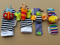 baby rattles - Fashion New arrival baby rattle baby toys Lamaze plush Garden Bug Wrist Rattle Foot Socks Styles Fast Shipping