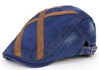 Wholesale 2015 New arrival men keep beret peaked cap Faux suede Leisure cap NMZ47