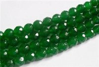 faceted gemstones - AAA mm Faceted Natural Green Emerald Gemstone Round Loose Beads quot