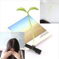 african american hair - 2015 Newest Lovely Novelty Plants Grass Hair Clips Headwear Small Bud Antenna Hairpins Lucky Grass Bean Sprout Party Hair Pin