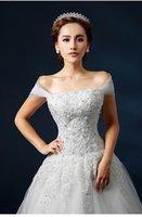 Wholesale Different Conception Bateau or Portrait Lace Dress Pregnant Dress Sheer Neck Long Tail A Line Wedding Dresses