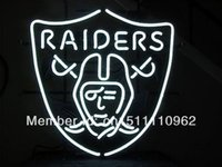 nfl - OAKLAND RAIDERS HANDCRAFTED REAL NEON GLASS TUBE BEER BAR NEON LIGHT SIGN quot x14 quot