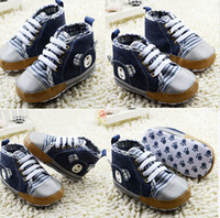 Wholesale China Baby Pvc Shoes - High top casual shoes!Soft baby shoes!blue toddler shoes,children canvas shoes,Free shipping newborn walker shoes,china shoes!9pairs 18pcs.C