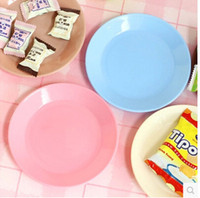 Wholesale 2015Creative gifts Dazzle colour food grade plastic small dishes snacks flat plate Snack plateDHL exempt postage