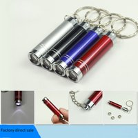 aluminium paint - 2015 hot Portable Mini LED flashlight key chain LED torch aluminium alloy painting torch with key ring mini outdoor LED torch