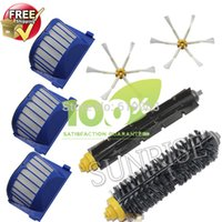 Wholesale AeroVac Filter Side Brush Bristle and Flexible Beater Brush Combo for iRobot Roomba Cleaner