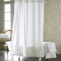 Wholesale Shower Curtains New Fashion White Lace Waterproof Shower Curtains Bathroom New Fashion Hot sell Creative Design Shipping From China