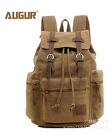 Wholesale 2014 new canvas with genuine leather duffel bags travelling bag sports outdoor packs