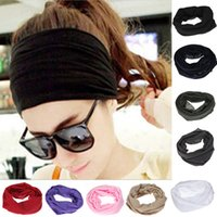 Wholesale Hot Sale Polyester Headband Neck Tube Multifunctional Beanie Snood Head scarf Scarves Face Bandanas Wrap Cycling Sport