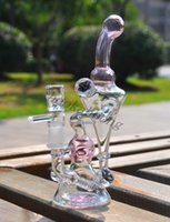 Wholesale 2016 New Recycler Bong Glass Bongs nexusglass hitman glass hightimes Bong mm glass joint oil dab rig Glass Rig