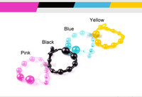 Wholesale Cheap Quality Butt Plug - Crystal Jellies Anal Butt Plug Cheap and High Quality Anal Ball for Beginners 4 Color a Lot Anal Sex Toys for Men and Women Sex Products