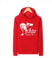 ai coat - YHB The New Autumn Q Edition Iverson Sweatshirts AI Allen Iverson hedging Hooded coat male