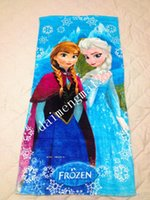Wholesale 12 best price cm New frozen Towel design children beach towel kids bath towel Elsa Anna OLAF cotton towels bathroom