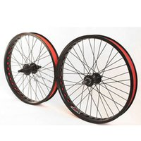 Wholesale STARS Wheels Wheelsets ZJS800 Black Bike Bicycle Racing Double Wall Rim quot BMX Black WheelsBicycle Parts