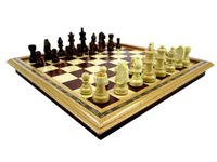 Wholesale 2015 new fashion design high quality folding portable solid wood chess with wooden chess pieces