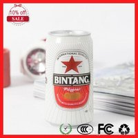 beer bank - Fashion Mini Beer cans Beverage cans Mini Portable power bank mah USB Power Bank Portable External Battery Charger for iphone5 S G