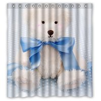 bear shower curtains - Polyester Floral Bath Curtains Print Cartoon Film Cute Teddy Bear Shower Curtain Waterproof Size quot x quot