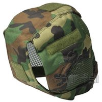 Wholesale Fencing Masks Tactical Helmet Camouflage Fencing Mask MZ6 Hot Wire Guard Camouflage Hot High Quality