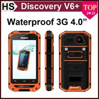 Wholesale Discovery V6 Waterproof Smart Phone inch Dual Core Dual SIM Dual Standby Shockproof Outdoor Cell Phone Free DHL Shipping