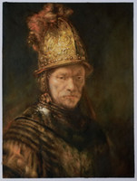 art rembrandt - Man in a Golden Helmet II by Rembrandt Van Rijn Famous Art Handmade Oil Painting H