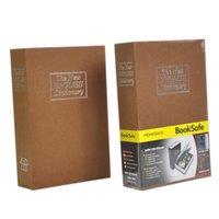 safe deposit box - Fashion Medium Size English Dictionary Book Storage Safety Deposit Money Box Security Mini Strongbox Safe PC