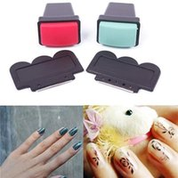 Wholesale 2015 Pro Salon Nail Art Stamp Stencil Polish Nail Stamping DIY Tool Nail Art Stamping Stamp Tools Rubber Head Scraping Knife Set Rectangle