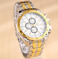 Wholesale Top fashion multicolor luxury men watch alloy fine quartz Geneva watches Stainless steel bracelet a798