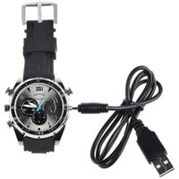 Wholesale hidden spy camera watch HD p gb memory sound audio recording wrist sport watch for sale